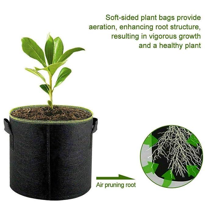 Wodeni - Juego de 5 Bolsas para Cultivo de plantaciones de ...