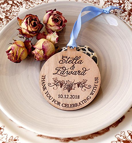 Amazon Wedding Favors Personalized Wooden Ornaments Wooden