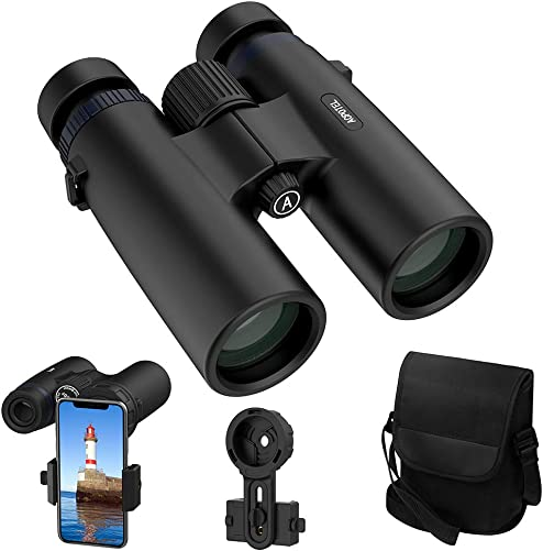 ACPOTEL Binoculars for Adults, 10×42 Compact Binoculars Waterproof, HD Binoculars – BAK4 Prism FMC Coating for Bird Watching Boating Hunting Concerts Theater Sports Travel