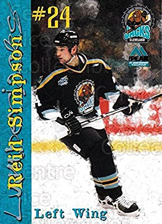 (CI) Reid Simpson Hockey Card 1999-00 Cleveland Lumberjacks 21 Reid Simpson 425dfc34c5d