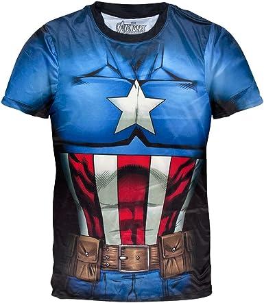 Old Glory Captain America - Camiseta de Disfraz de Capitán ...