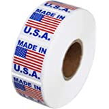 "DREAM ART Made in USA Pre-Printed Labels Stickers (1"" x 1"") ; 1000 Labels per Roll 3 Roll"