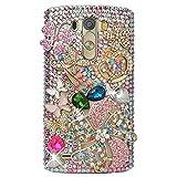 LG G4 Case, LG G4 Bling Case-Spritech(TM) 3D Handmade Colorful Diamond Bling