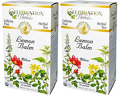 Celebration Herbals Lemon Balm Tea Bags, 24 Count (Pack of - Mint Balm Pleasure