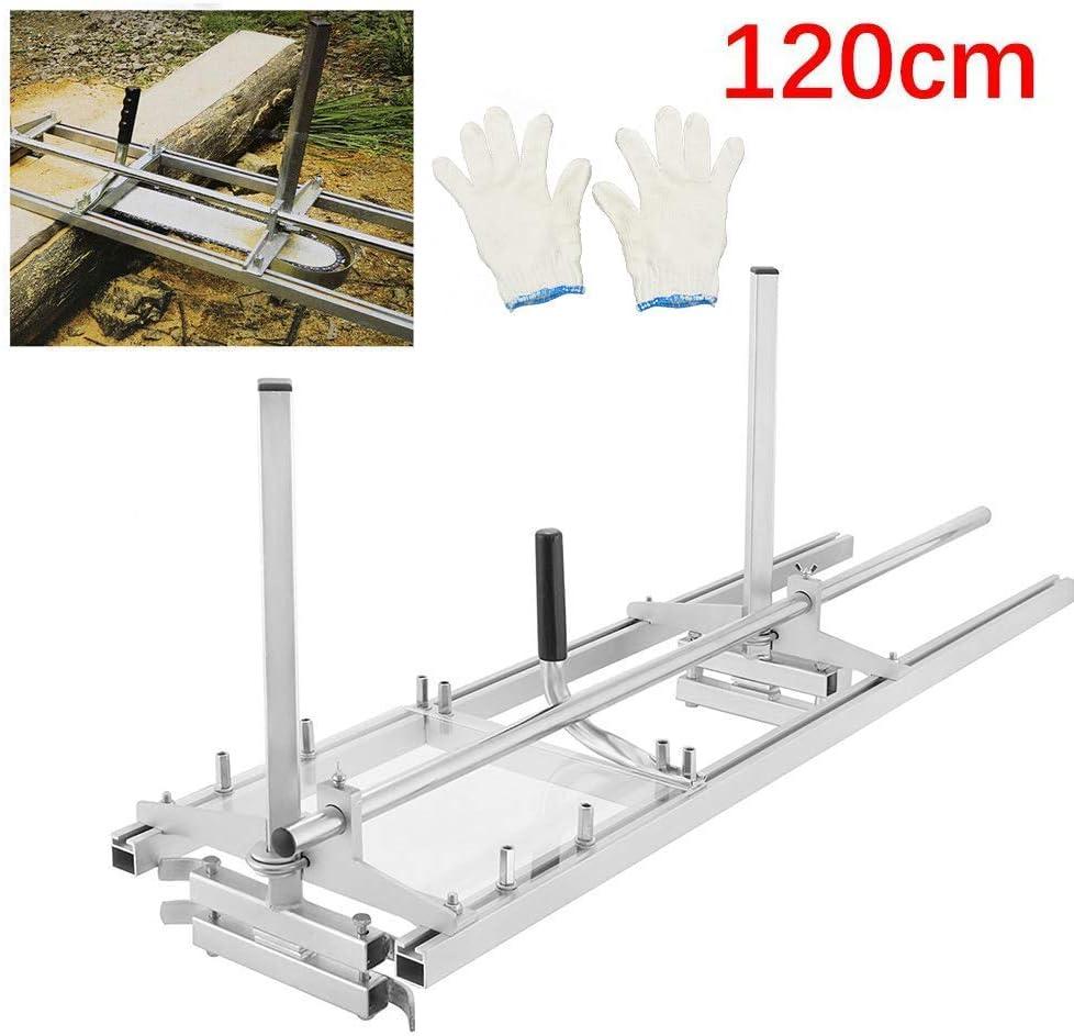TOPQSC Molino de Motosierra Portable Chainsaw Mill Chain Sierra Mill De Aluminio de Acero Mig Welding Sierra Mill Planking Lumber Cutting Bar (48 Pulgadas)