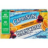 Capri Sun Roarin' Waters Flavored Water Beverage, Tropical Fruit, 10 Pouches (Pack of 4)
