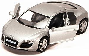 Kinsmart Audi R8, Silver 5315D - 1/36 Scale Diecast Model Toy Car, but NO Box
