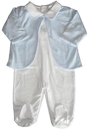 f0c6bbde03fc Amazon.com  Kissy Kissy Baby-Boys Infant Grand Pram Footie and ...