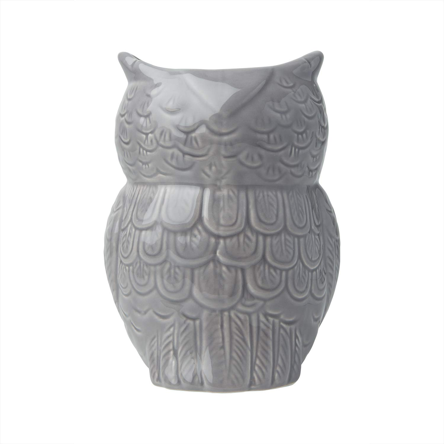 "Comfify Owl Utensil Holder Decorative Ceramic Cookware Crock & Organizer, in Lovely Grey Color - Utensil Caddy and Perfect Kitchen Ceramic Décor Gift - 5"" x 7"" x 4"" Size by Comfify (Image #5)"