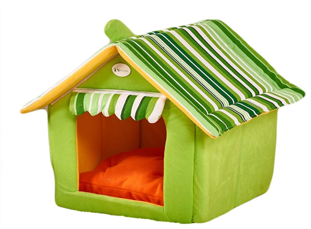 Green L Green L Icegrey Winter Warm Soft Cat House Cave Bed Indoor Portable Pet House Green L