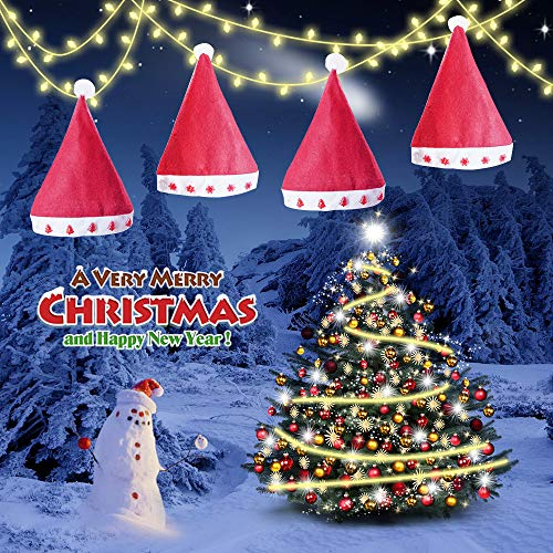 SONATA Light up Christmas Hat, Santa Hats LED String Light Cap, Decoration for Xmas New Year Festival Holiday Party for Adults, Kids and Dog Cat Pets (Light Decoration Dog Christmas Up)