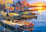 Buffalo Games-Darrell Bush-Autumn at The Lake-300 Large Piece Jigsaw Puzzle
