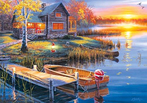 Buffalo Games - Darrell Bush - Autumn At the Lake - 300 Large Piece Jigsaw (Fall Bush)