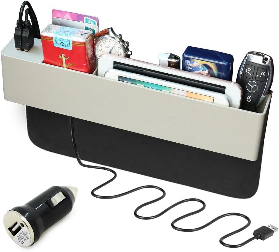Gray Yiz Car Seat Gap Filler Premium Console Pocket Organizer Auto Seat Side Drop Caddy Catcher