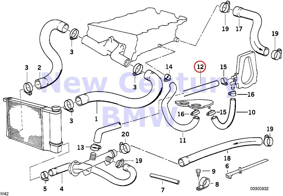 bmw m42 engine diagram amazon com bmw genuine cooling system water hoses water hose 318i  bmw genuine cooling system water hoses