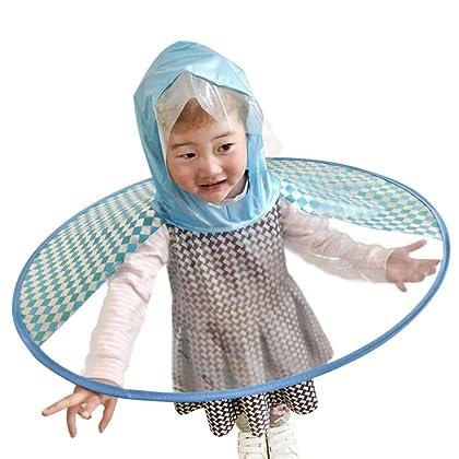 53a9ea035a3af LIKESIDE Foldable Cute Raincoat UFO Children Umbrella Hat Magical Hands Free  Raincoat RDS (Medium