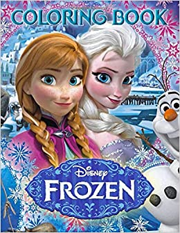 64 High Quality Images to Color! Fantastic kids Coloring Book FROZEN Coloring Book
