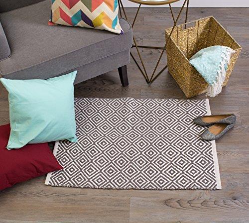 Home essentials dii camz36188 rag rug 2x3 feet diamond for Garden room 2x3