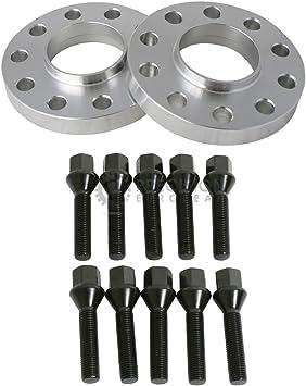 5x120 72.6 Hubcentric Wheel Spacers for BMW with Black Lug Bolts 12x1.5, 53mm Shank 1 inch for 128i 135i 318i 320i 325i 328i 335i M3 E60 525i 528i 530i 535i M5 Z3 Z4 E36 E46 E90 E92 E93 25mm