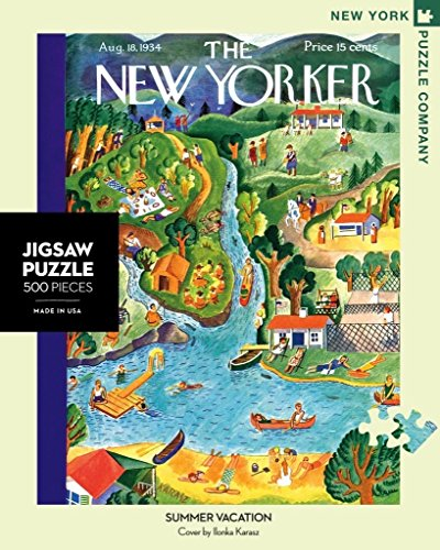 New York Puzzle Company - New Yorker Summer Vacation - 500 Piece Jigsaw Puzzle