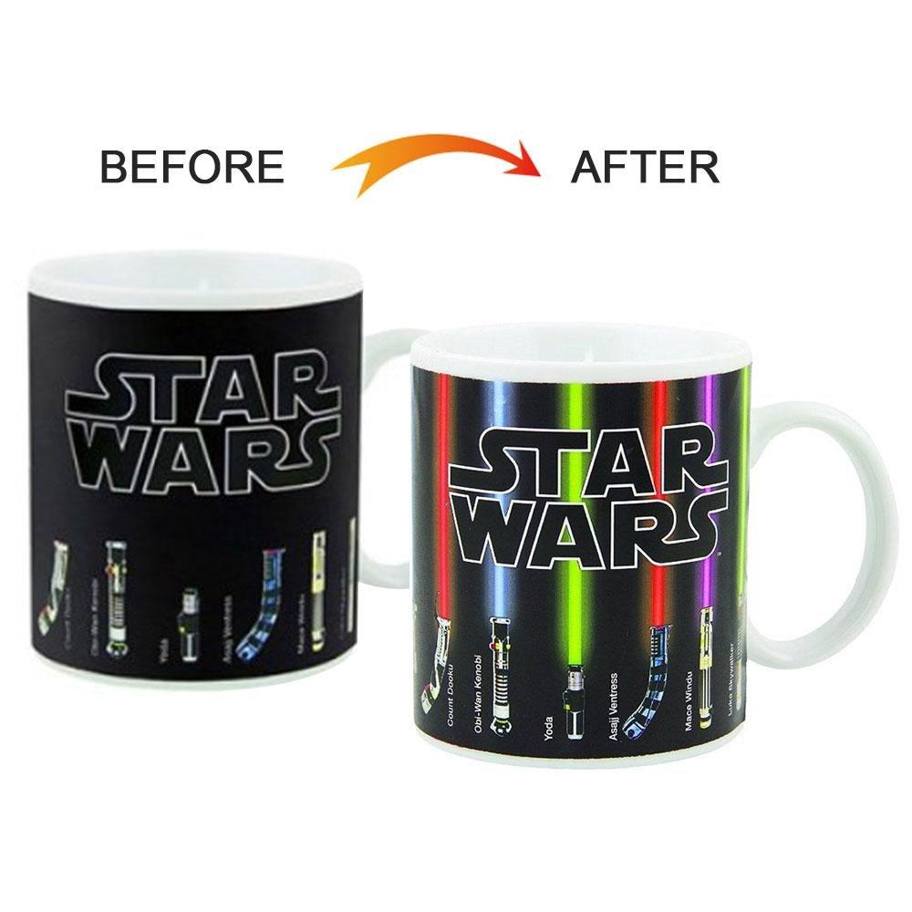 STAR WARS THE LAST JEDI GLOSSARY HEAT CHANGING MAGIC COFFEE MUG