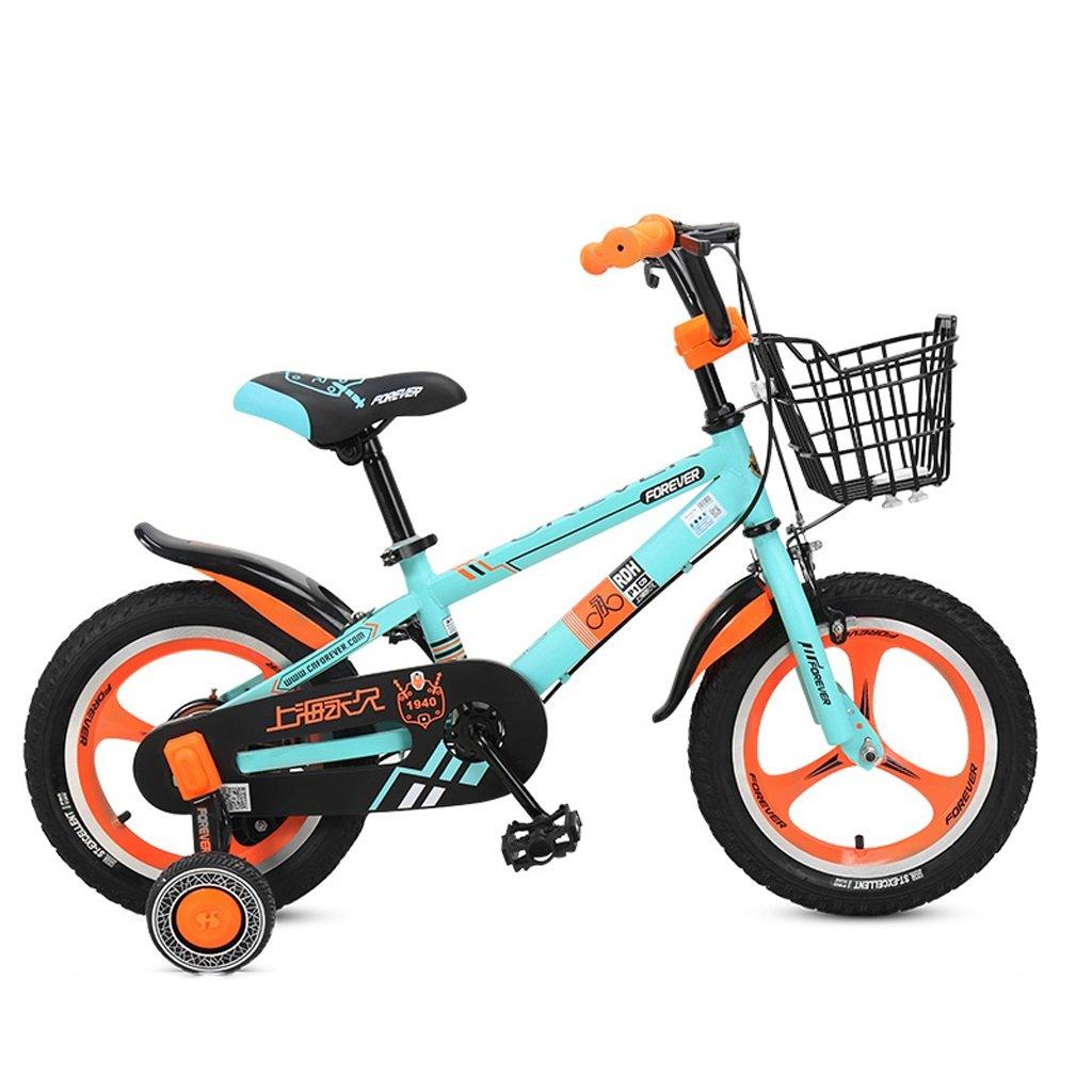 子供用自転車、3-6歳の男の子、女の子用の自転車、高さ1412cm、90125cm (Color : Orange) B07D2GCG56