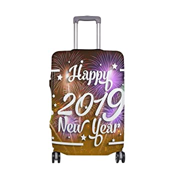 Amazon.com: Happy New Year - Maleta ligera giratoria para ...