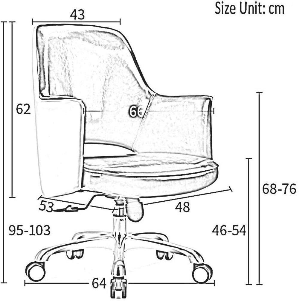 THBEIBEI kontorsstol svängbar stol spelstol datorstol uppgift skrivbordsstol stol stol barstol ihålig design U-formad midja ryggstöd bär vikt 200 kg (färg: Brun) Brun