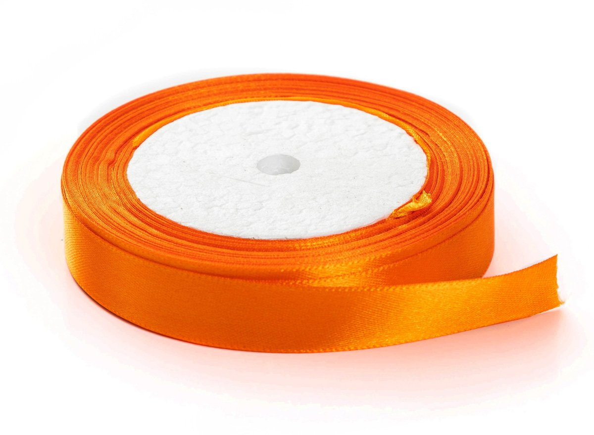 Black, 1//2 x 25 Yards Solid Color Satin Fabric Ribbon