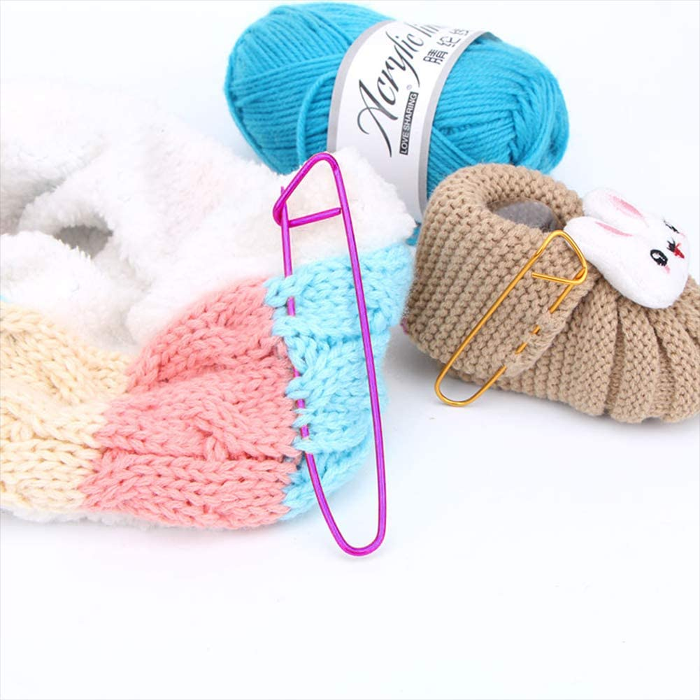 10 40 100X Circular stitch holders markers plastic locking for crochet knitting