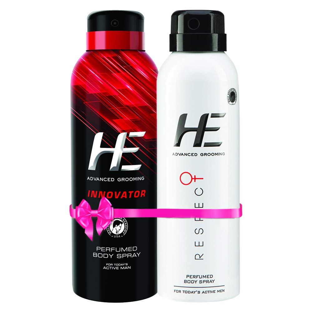 HE Innovator + Respect Perfume Body Spray, 150 Ml X 2, 150 ml