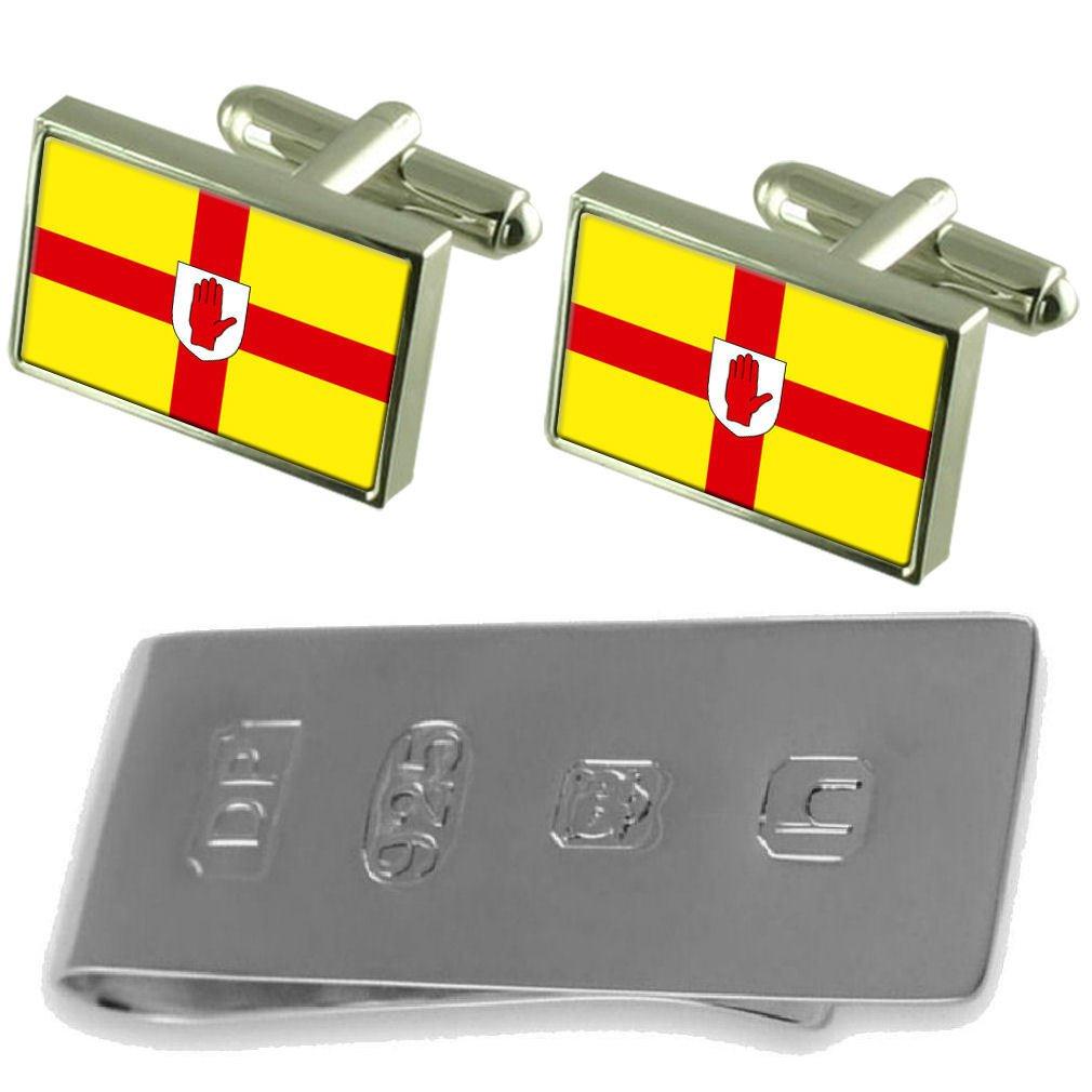 Select Gifts Ulster Flag Cufflinks /& James Bond Money Clip
