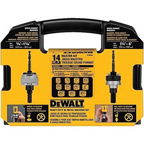 Dewalt D180005 14 Piece Master Hole Saw Kit Import It All