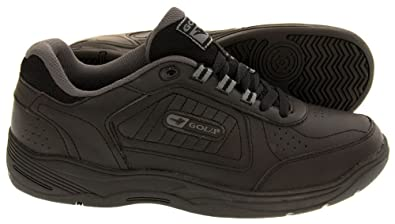 Gola Mens Lace Up Wide EE Fit Leather Sports Trainer Shoes (11 UK, Black):  Amazon.co.uk: Shoes & Bags