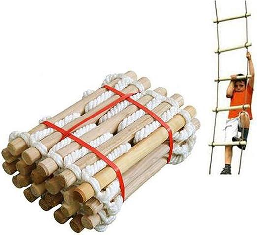 knowledgi Escalera de Cuerda de Escape de Incendio - 5,3 Metros Escalera de Evacuación Emergencia para Adultos Niños, Escalera de Seguridad con Ganchos para Rescate Escape, Fuerte Plegable: Amazon.es: Hogar