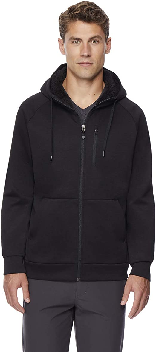 32 DEGREES Mens Fleece Tech Sherpa Lined Hoodie at Amazon