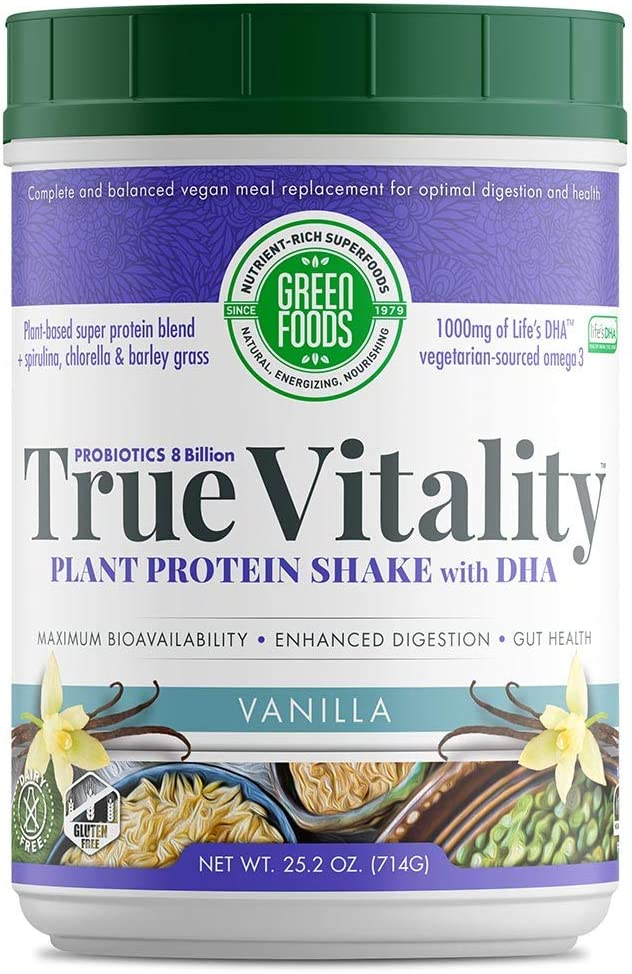 True Vitality, Vanilla Flavor - 25.2 oz (714 Grams) by Green Foods