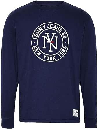 Tommy Hilfiger TJM NY Round Logo tee Camisa Deportiva, Azul ...