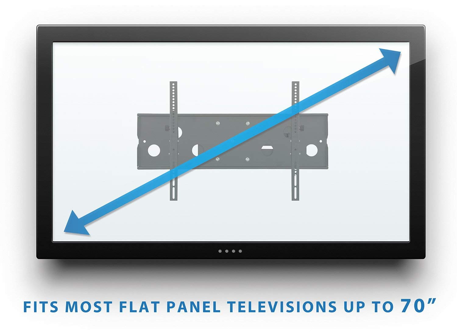 Mount-It! Long Arm TV Wall Mount With 26 Inch Extension, Swing Out Full Motion Design for Corner Installation, Fits 40 50, 55, 60, 65, 70 Inch Flat Screen TVs, 220 Pound Capacity by Everstone (Image #4)