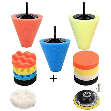 Amazon.com: Kit de pulidoras y amortiguadores para taladro ...
