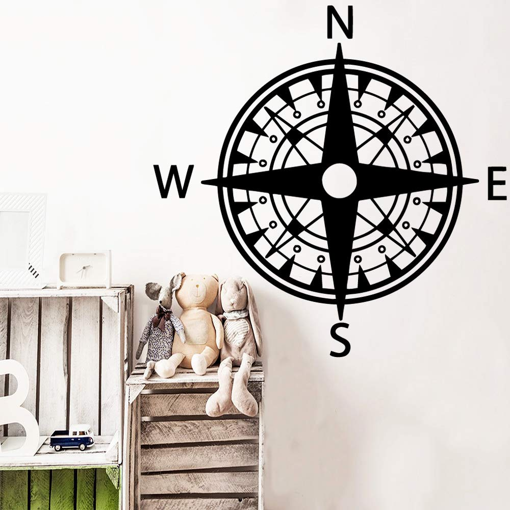 Modern Compass Wall Art Decal Stickers Pvc Material tatuajes ...
