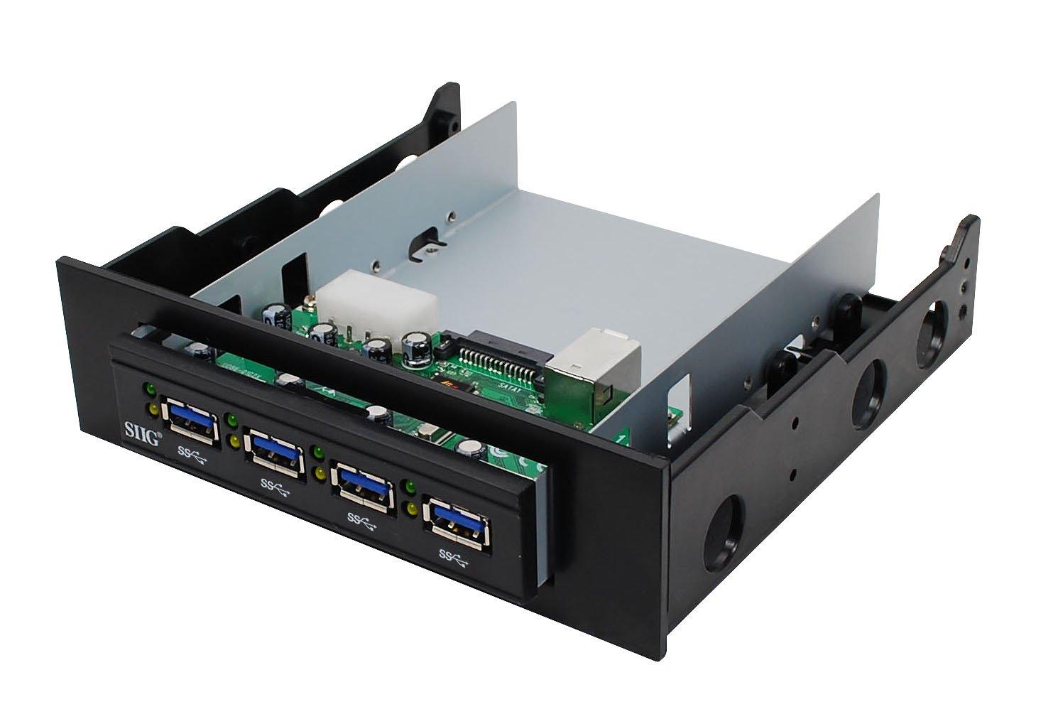 SIIG SuperSpeed USB 3.0 4-Port Bay Hub (JU-H40212-S1)