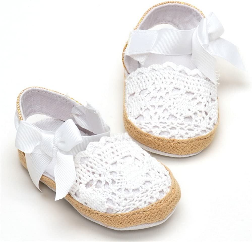 Estamico Baby Girls Bow Shoes Soft Sole Infant Toddler Sandals