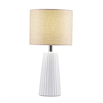 Delica Home Modern Ceramic Table Lamp White Table Lamps For Bedroom