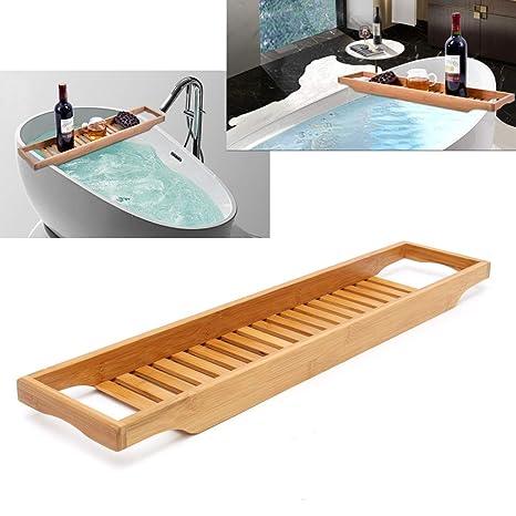 Accessori Per Vasca Da Bagno.Sunnygod Accessori Da Bagno Vasca Da Bagno Mensola Bagno In Bambu