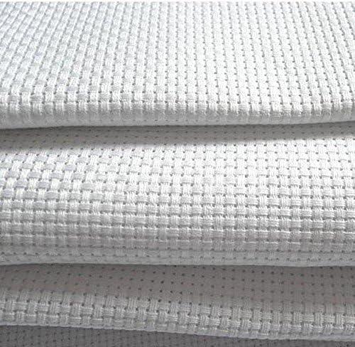 Tela Aida 14 blanca – 100 % algodón tejido de punto de cruz – 8 ...