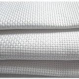 Tela Aida 14blanca–100% algodón tejido de punto de cruz–11tamaños para elegir, Blanco, 150X100cm