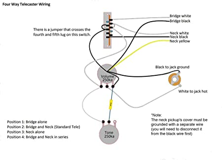 amazon com telecaster tele 4 way wiring harness upgrade cts sprague les paul wiring amazon com telecaster tele 4 way wiring harness upgrade cts sprague switchcraft musical instruments
