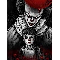 Zimal Full Round 5D DIY Diamond Painting Skull Man Horror Clowns and Baby Cross Stitch Mosaic Needlework Diamond…
