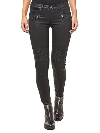 Coated jeans schwarz